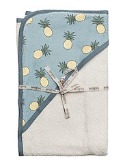 Baby towel with pineapple - STONE BLUE