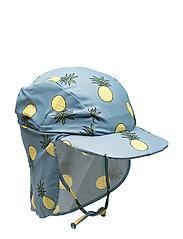 UV sun cap with pineapple - STONE BLUE