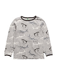 T-shirt LS. shark - GREY MIX