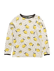 T-shirt LS. Lemon - CREAM