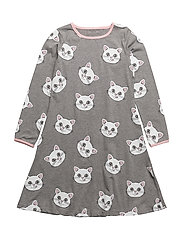 Dress LS. Cat face. - M. GREY MIX