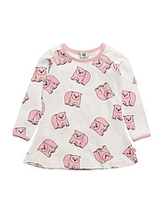 Dress LS. Polar bear - SILVER PINK