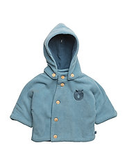 Baby Fleece. Hood+buttons - Stone Blue