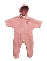 Baby Fleece Suit+Buttons - Bridal Rose