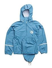 Rainwear set. Solid - Stone Blue