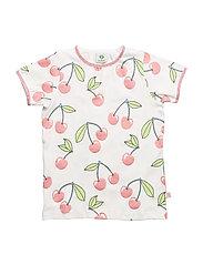 T-shirt SS. Cherry - CREAM