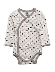 GOTS. Newborn Body LS - CREAM