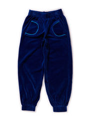 Velour Pants - Navy/Turquoise007
