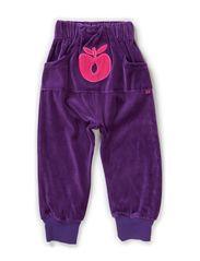 Loose Pant. Velvet. Big apple - Purple