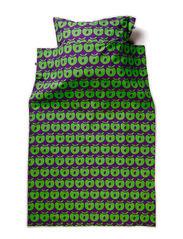 Bed linnen Adult. Apples - Purple/Apple Green