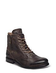 Kingdom Leather Shoe - CHARCOAL