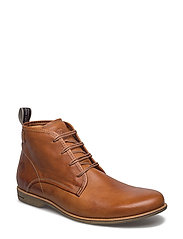 Slayer Leather Shoe - COGNAC ECO