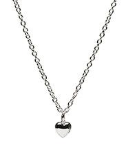 Card pendant neck 42 heart - PLAIN SILVER