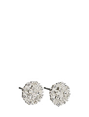 Monroe small stone ear - SILVER/CLEAR