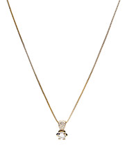 Mandy pendant neck 40 - GOLD/CLEAR