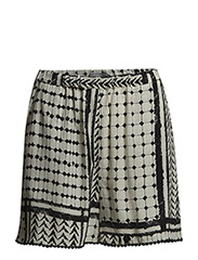 Evy Shorts - Off white & black