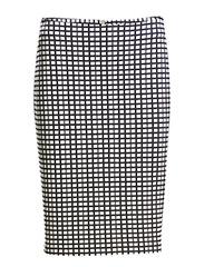 Coco Skirt - Creme with black checks