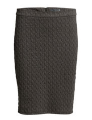 ROSSISKIRT - Dark grey melange check