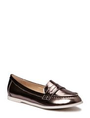 Sofie Schnoor Metallic leather moccasin
