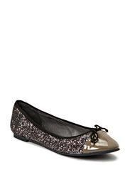Snakeskin ballerina glitter - antic silver