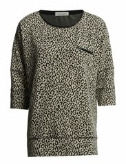 sweatshirt 3/4 sleeve - snow leopard