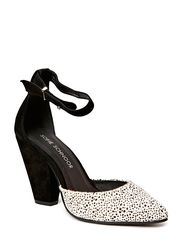 High heel w fur - black leo