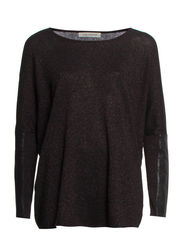 Knit jumper w. lurex - BLK/METAL