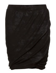 Twisted skirt - BLK/BLK