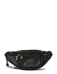Leather bum bag - BLK