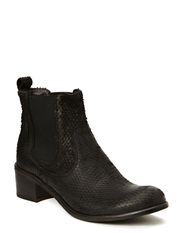 Low boot snake look - Black