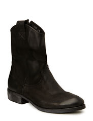 Low boot brushed leather - Black