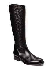 Flat boot w. quilt high shaft - BLK
