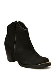 High heel boot nobuk - Black