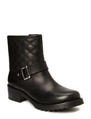 Low boot w. quilt - Black