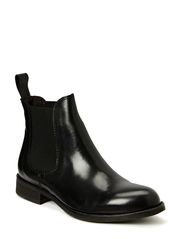 Low boot w. elastic - Black