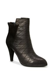 High heel boot w. suede - BLK