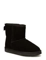 Suede fur boot - BLK