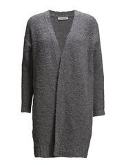 loose Cardigan - light grey melange