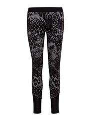 pants - grey leopard