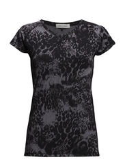 t-shirt - grey leopard