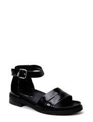 Sandal w. ancle strap - black