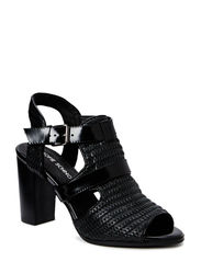 High heel sandal - black