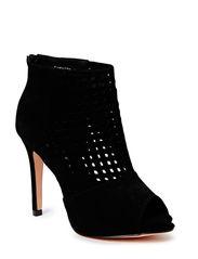 Sandal w. web front - black