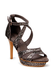 Glitter high heel - d.brown