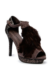 feather high heel - d.brown