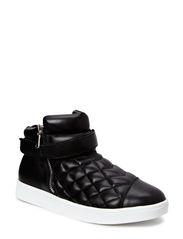 Sneaker w. quilt - black