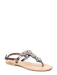sandal w. simili stones - antic silver