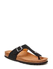 sandal toe strap - black