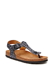sandal toe strap - antic silver