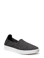 Braided sneaker - black